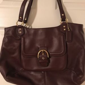 Maroon Coach Tote